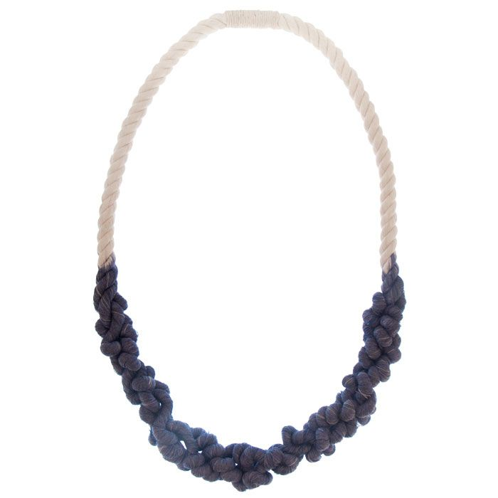 Single Rope Knot Necklace by Tanya Aguiñiga