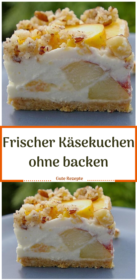Frischer Käsekuchen ohne backen