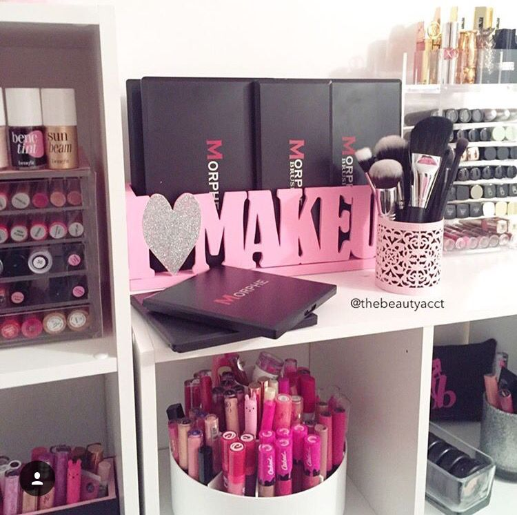 Makeup Storage Ideas Makeup Organization Pinterest