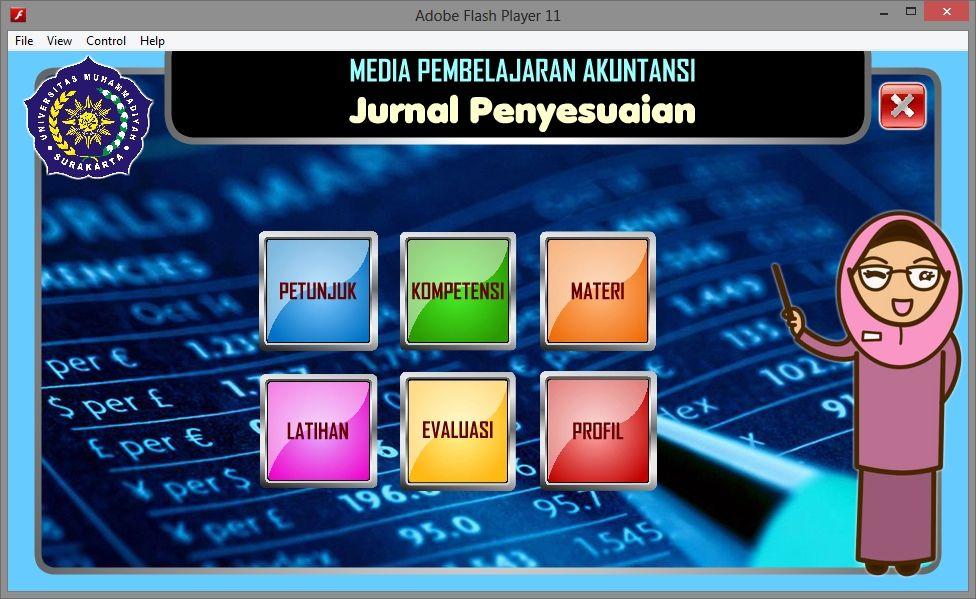 Aplikasi Multimedia Pembelajaran Interaktif Akuntansi Jurnal Penyesuaian Game Edukasi Flash Multimedia