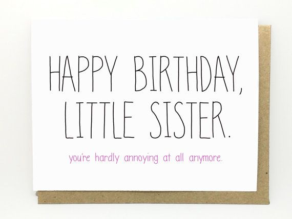Funny Birthday Card Birthday Card For Sister Sister Birthday