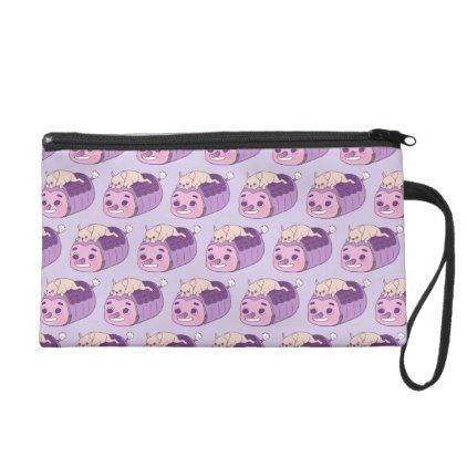 #Cute Frenchie and her imaginary friend Wristlet Purse - #bulldog #puppy #bulldogs #dog #dogs #pet #pets