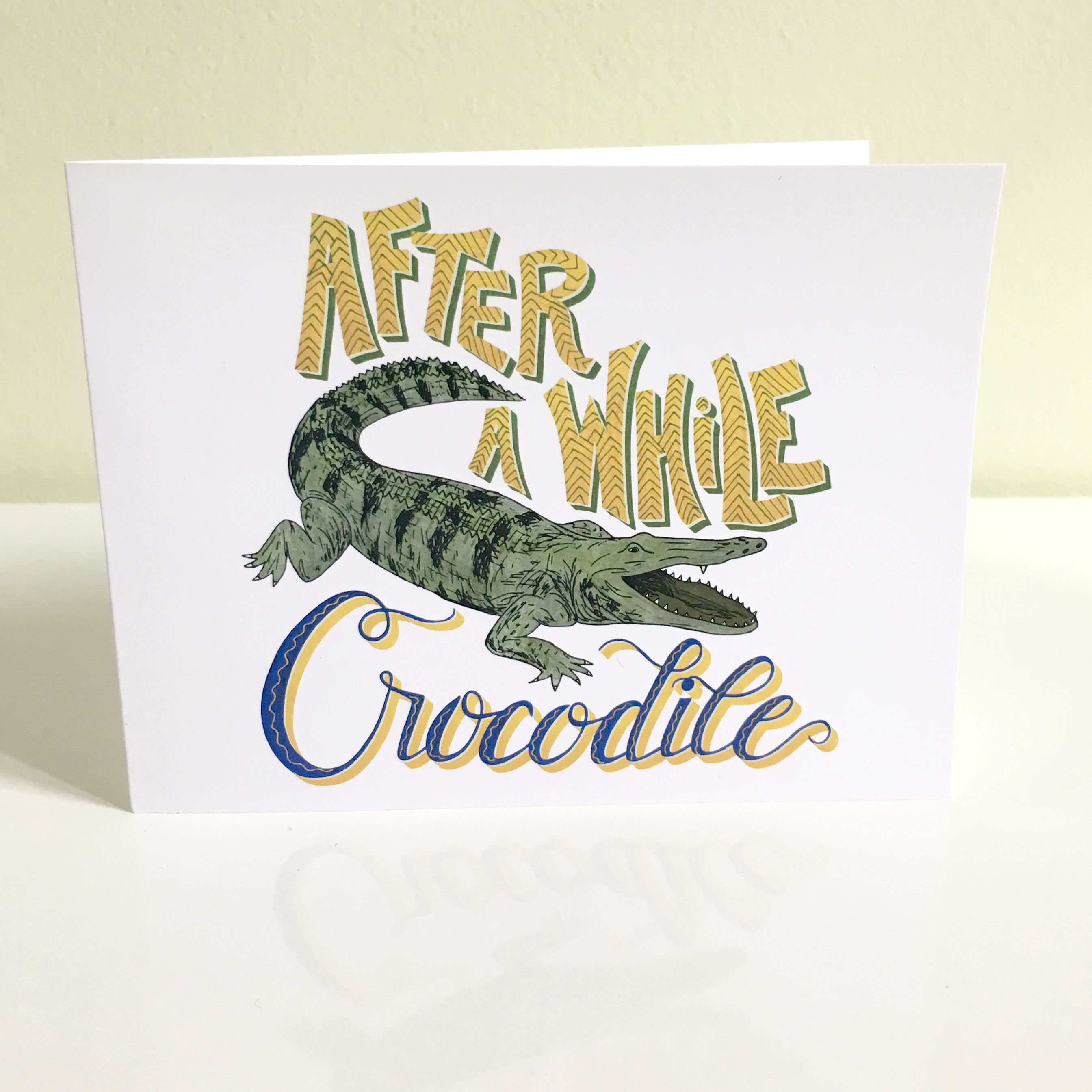 Goodbye card after a while crocodile greeting card going away goodbye card after a while crocodile greeting card going away card leaving kristyandbryce Gallery