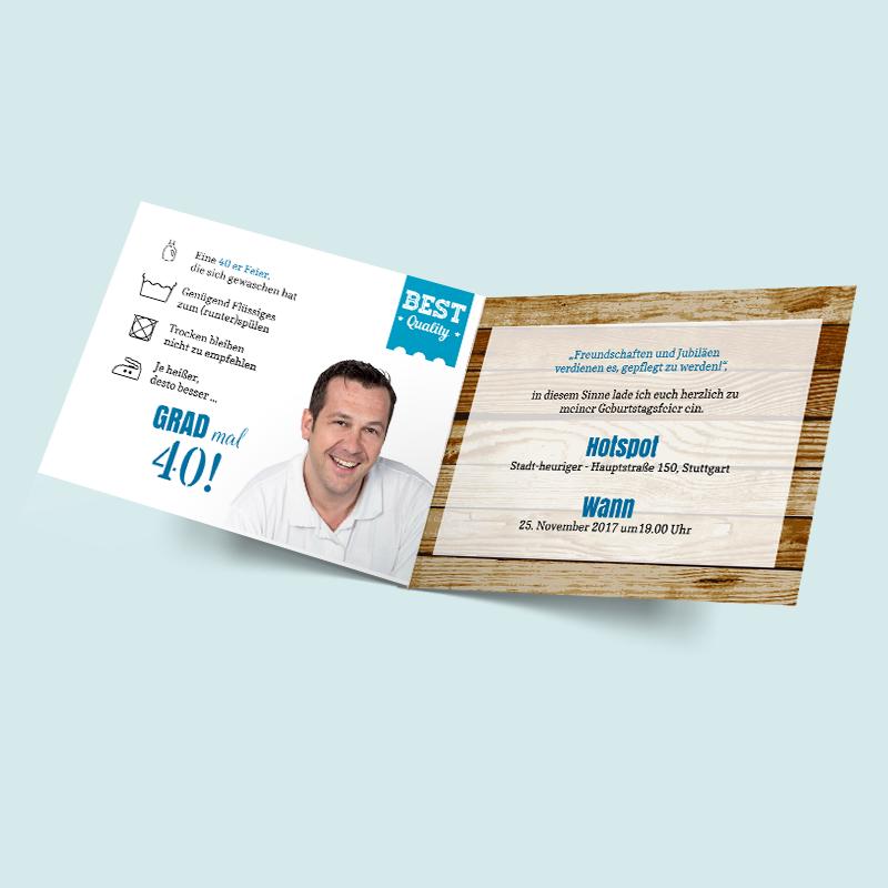 besondere einladungen - geburtsagskarten zum selbst gestalten, Einladung