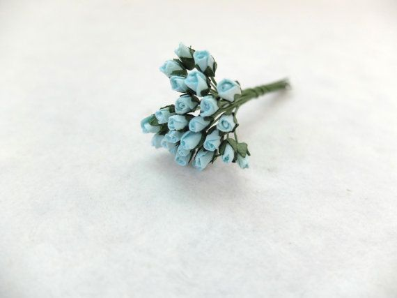 25 4mm mulberry turquoise blue rose buds by eastmeetswest on Etsy (Craft Supplies & Tools, Floral Supplies, Artificial Flowers & Plants, paper flower, flower, mulberry paper, wedding decor, rose, mulberry rose, paper rose, small roses, mini roses, 4mm roses, turquoise, blue)