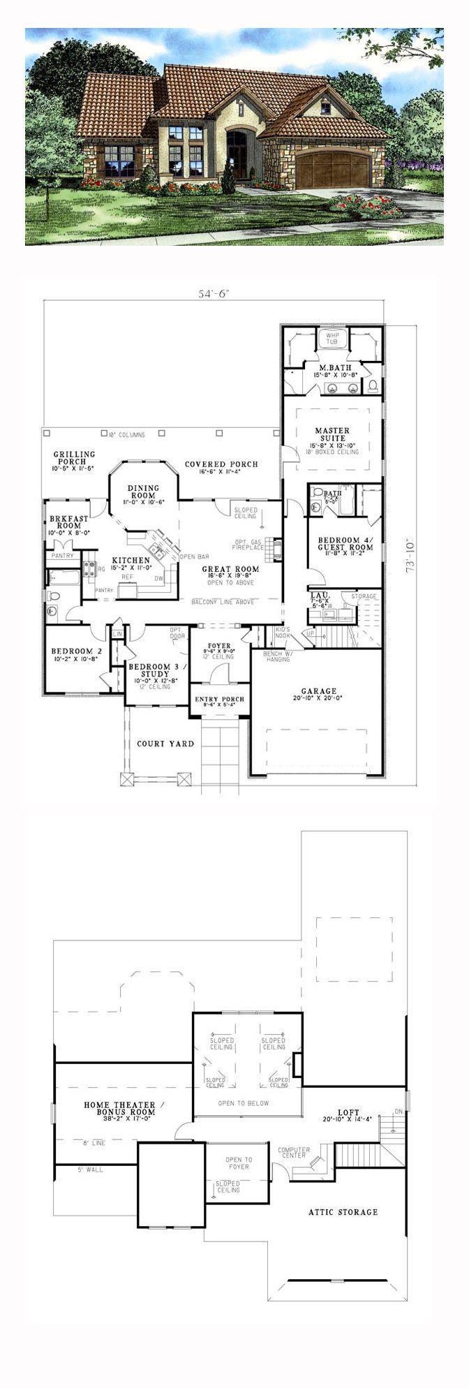 Italian House Plan 82119 Total Living