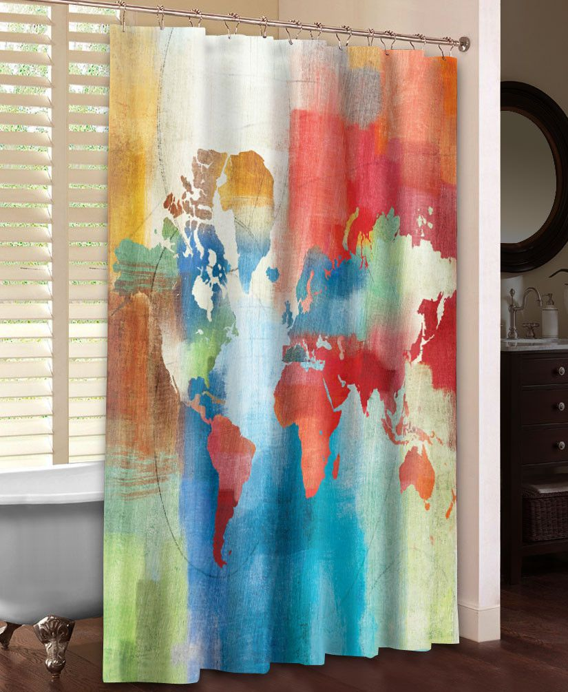 Seasons Change Abstract Shower Curtain Abstract Shower Curtain