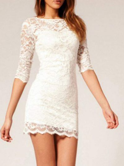 Short white dress   on Fashionfreax you can discover new designers, brands & trends.