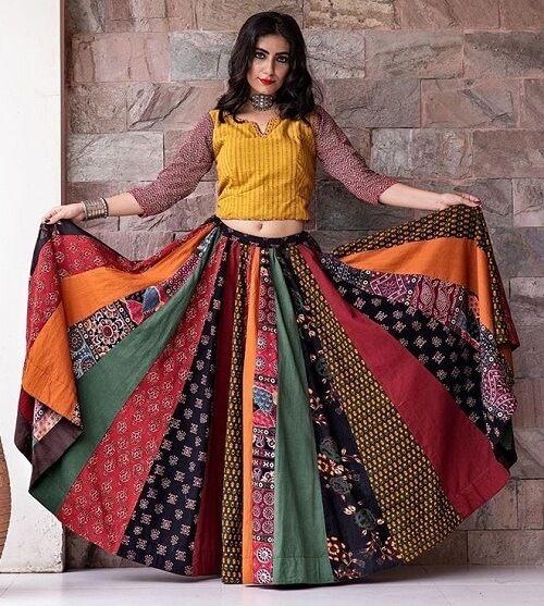 1d664cfc765ab8 Multicolor kalidar Printed Chaniya Choli For Navratri #navratri # chaniyacholi #kalidar #prints #multicolor