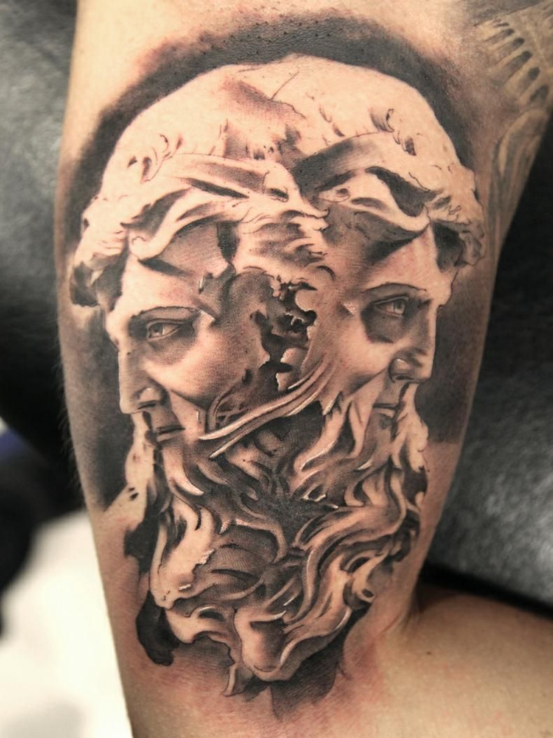 Tattoo dioses griegos buscar con google mitologico y for Greek sculpture tattoo