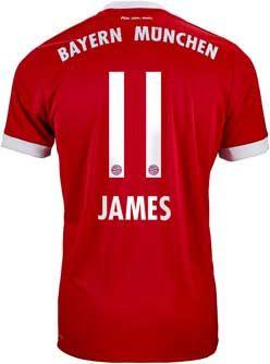 639fee32243 adidas James Rodriguez Bayern Munich Home Jersey 2017-18 | SoccerMaster.com