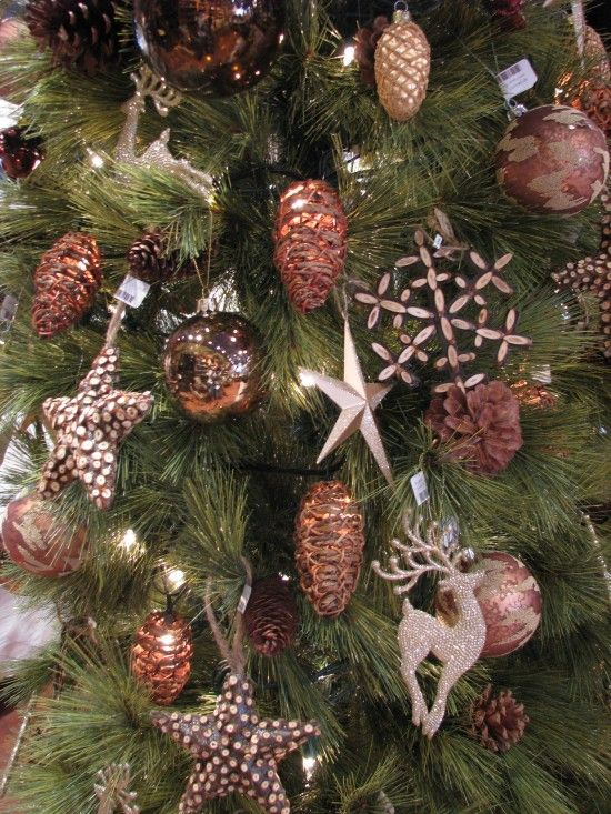 Decor rose gold christmas trees rose gold christmas Brown and gold christmas tree