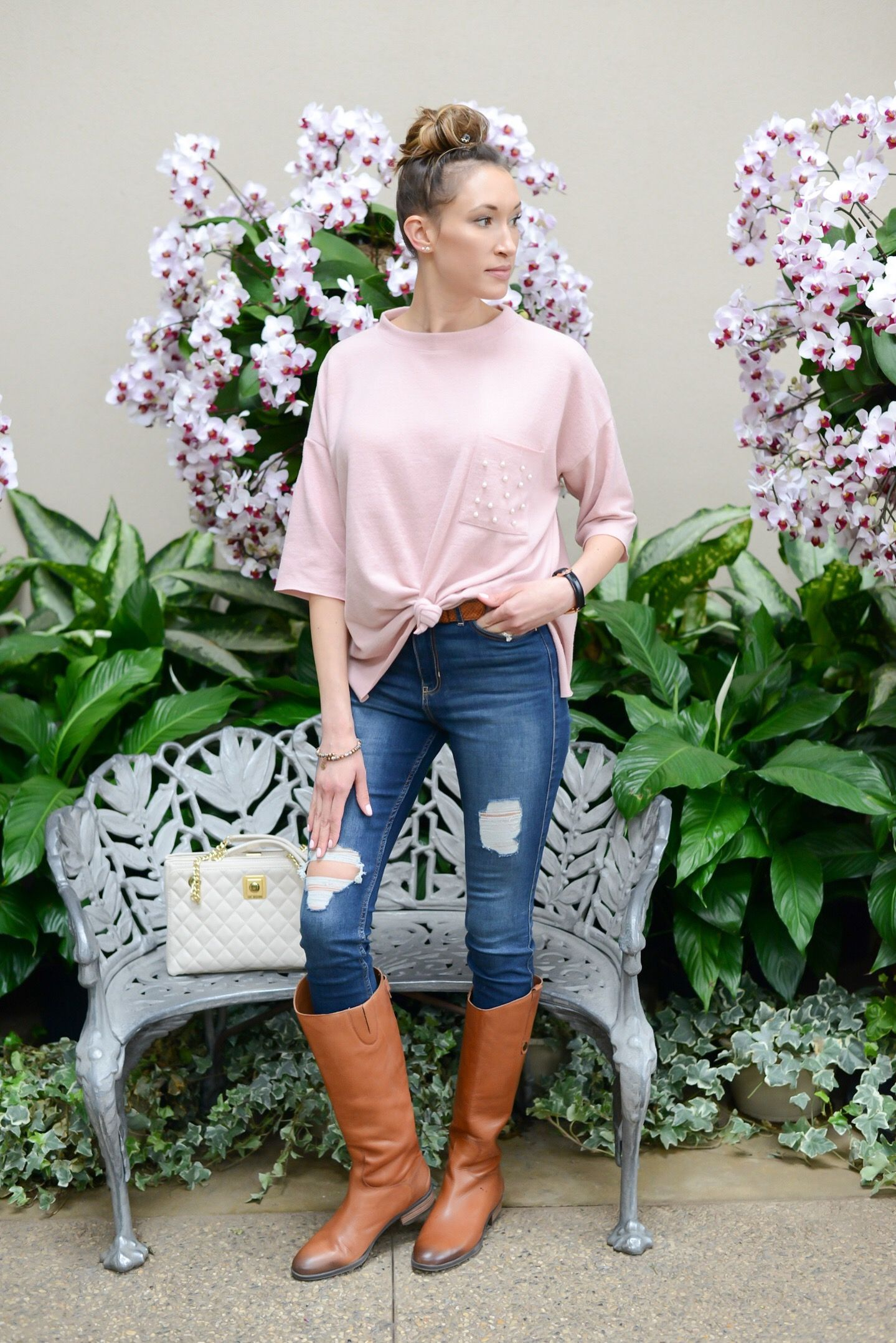 Spring Outfits You Can Wear with Tall Boots - Instinctively en