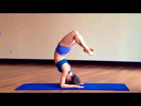 lotus headstand to scorpion  headstand yoga pilates