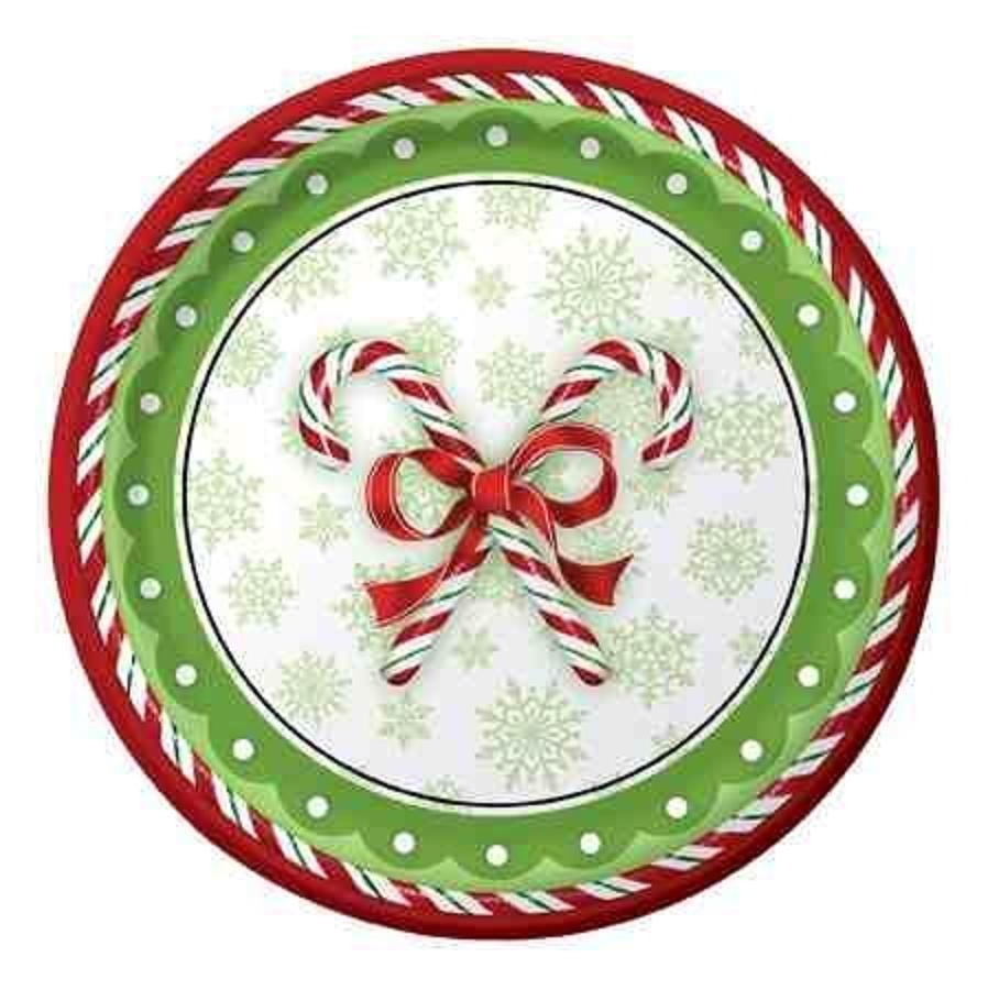 Candy Cane Christmas Party Supply Sets Plates Napkins Cups Party Christmas Arte Natal Ideias Para Artesanato Enfeites Natalinos