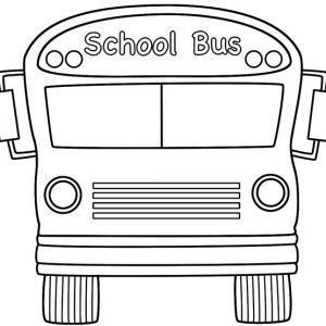 A Typical American School Bus Coloring Page A Typical American