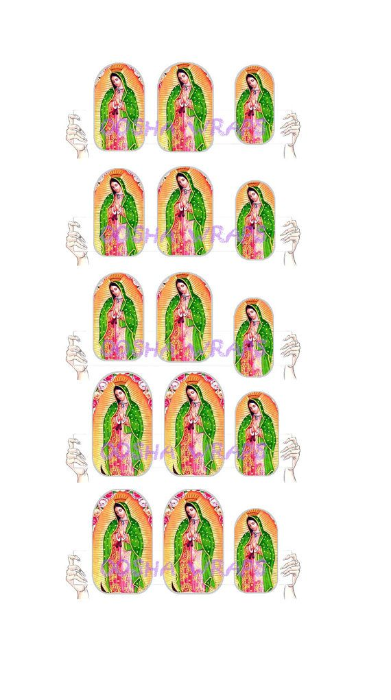 Virgen de Guadalupe Nail Wraps by OoshaWraps on Etsy, $5.99 | Nails ...