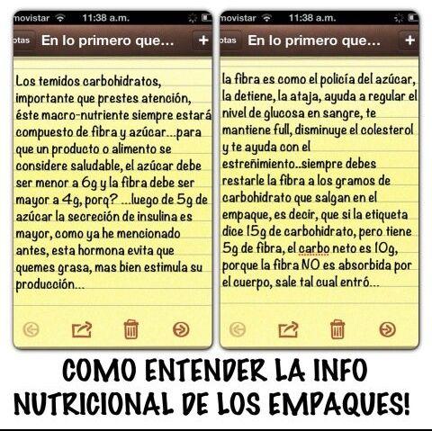 Sascha Fitness Saschafitness Informacion Nutricional De Los