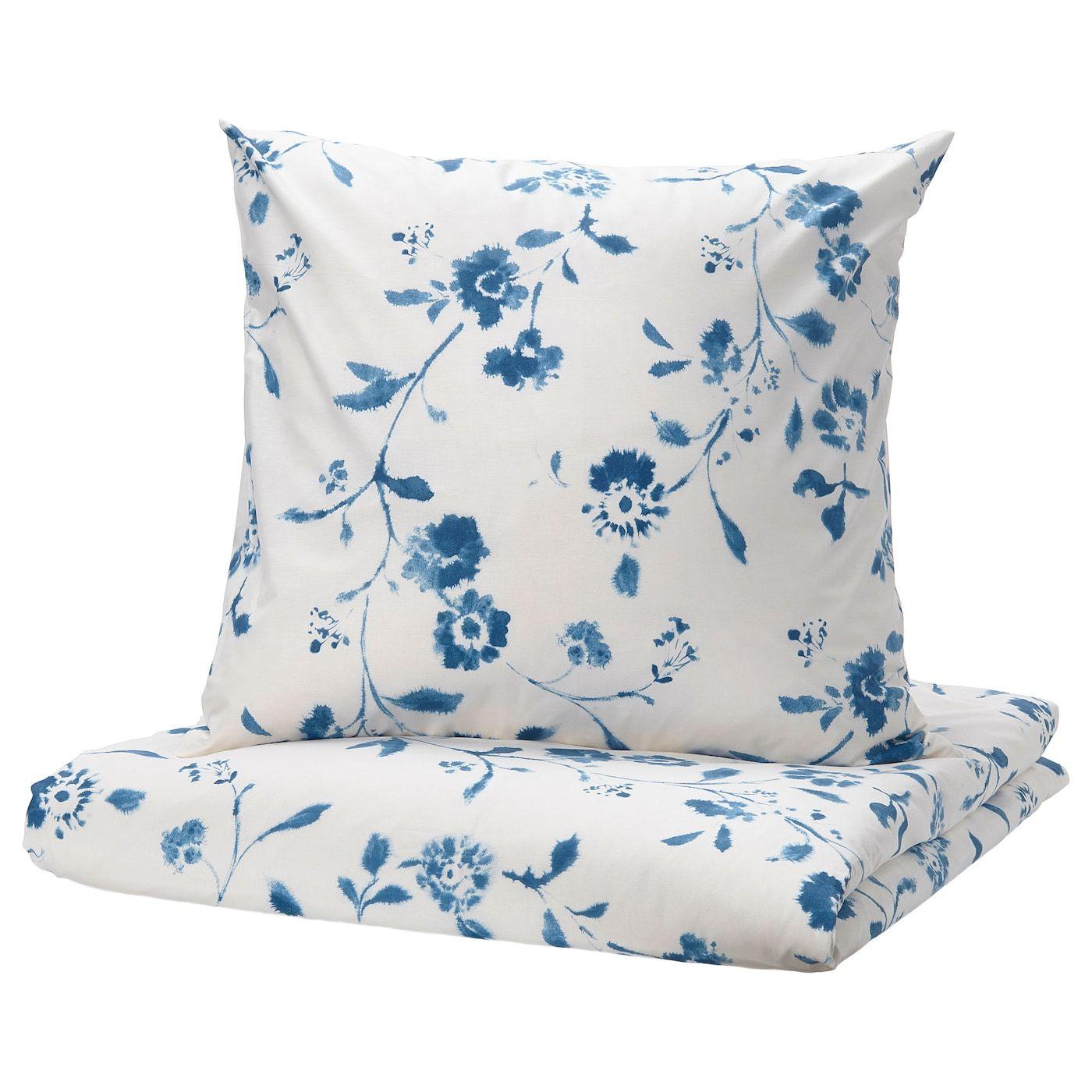 Blagran Housse De Couette Et 2 Taies Blanc Bleu Ikea Housse De Couette Couette Ikea