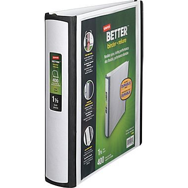 1 5 3 Ring Better Binder White 13402 Binder High School Supplies Middle School Supplies