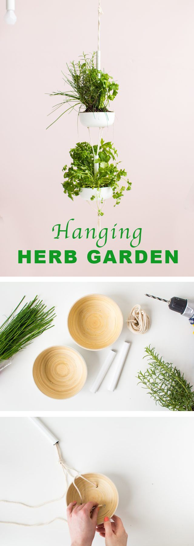 DIY your own hanging herb garden! With this hanging herb garden it doesn't matter how much or how little space you have to dedicate to your garden — you can grow all the herbs you need in just a small corner of your home. http://www.ehow.com/how_12343158_easy-hanging-herb-garden.html?utm_source=pinterest.com&utm_medium=referral&utm_content=freestyle&utm_campaign=fanpage