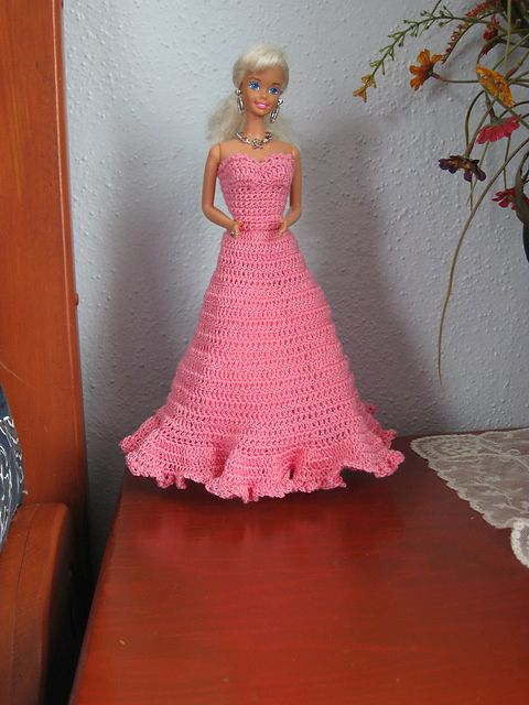 Dress Free Crochet Pattern Barbies Pinterest Barbie Dress