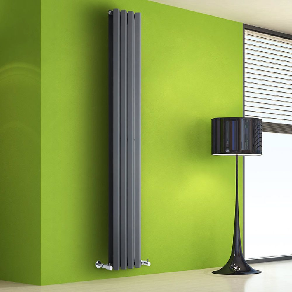design heizkörper vertikal anthrazit 1255 watt 1780mm x 280mm, Schlafzimmer entwurf