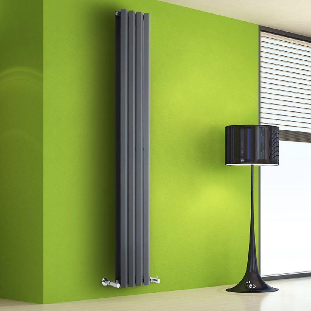 design heizk rper vertikal anthrazit 1255 watt 1780mm x 280mm vital image 1 heizung. Black Bedroom Furniture Sets. Home Design Ideas