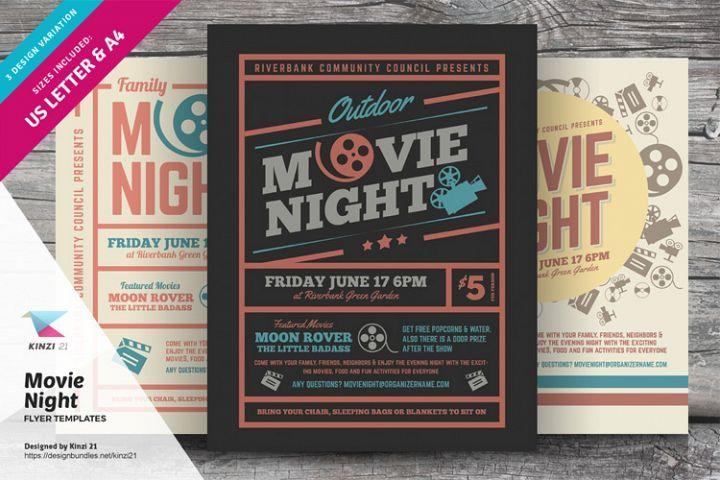 Movie Night Flyer Templates Graphic Design Templates