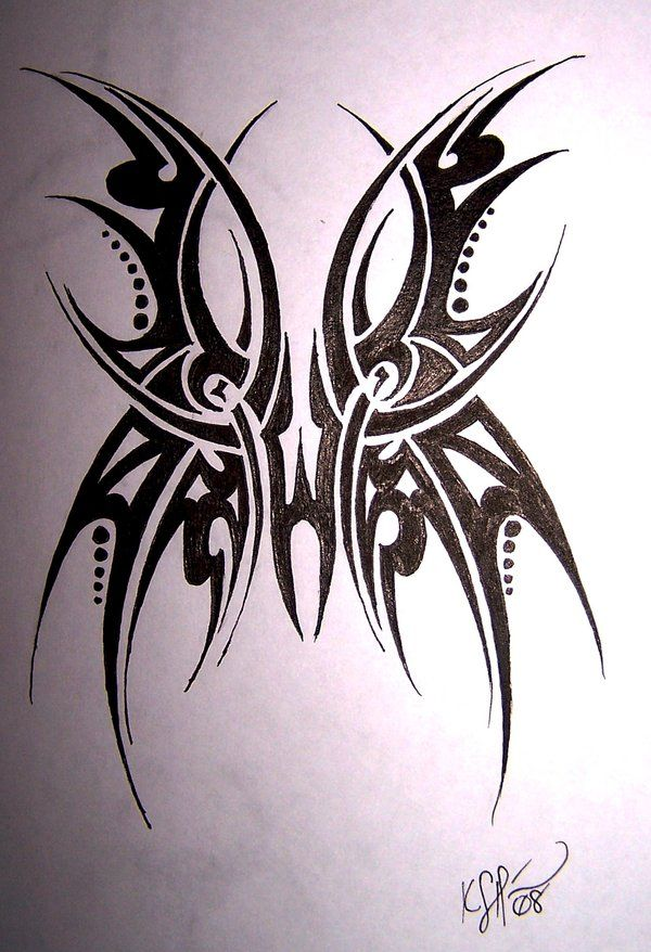 Tribal Butterfly Tattoo by MikadosGirl on DeviantArt