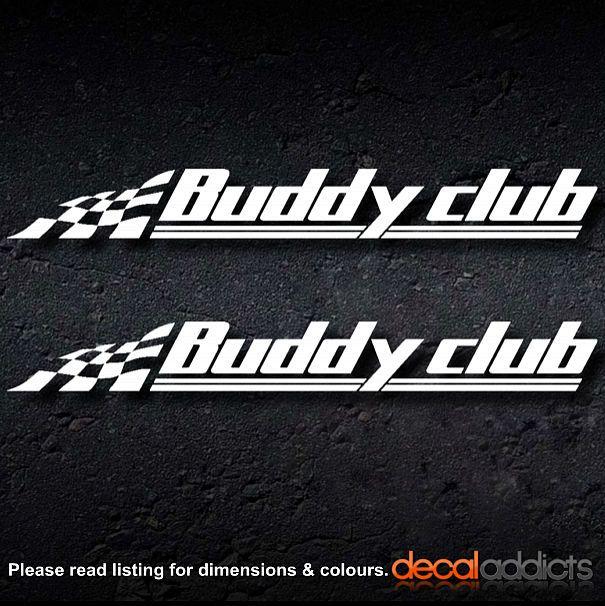 X BUDDY CLUB Vinyl Decals Stickers Suits Honda JDM Motorsport - Lexus custom vinyl decals for carthe shocker vinyl decal sticker jdm drifting nissan toyota honda