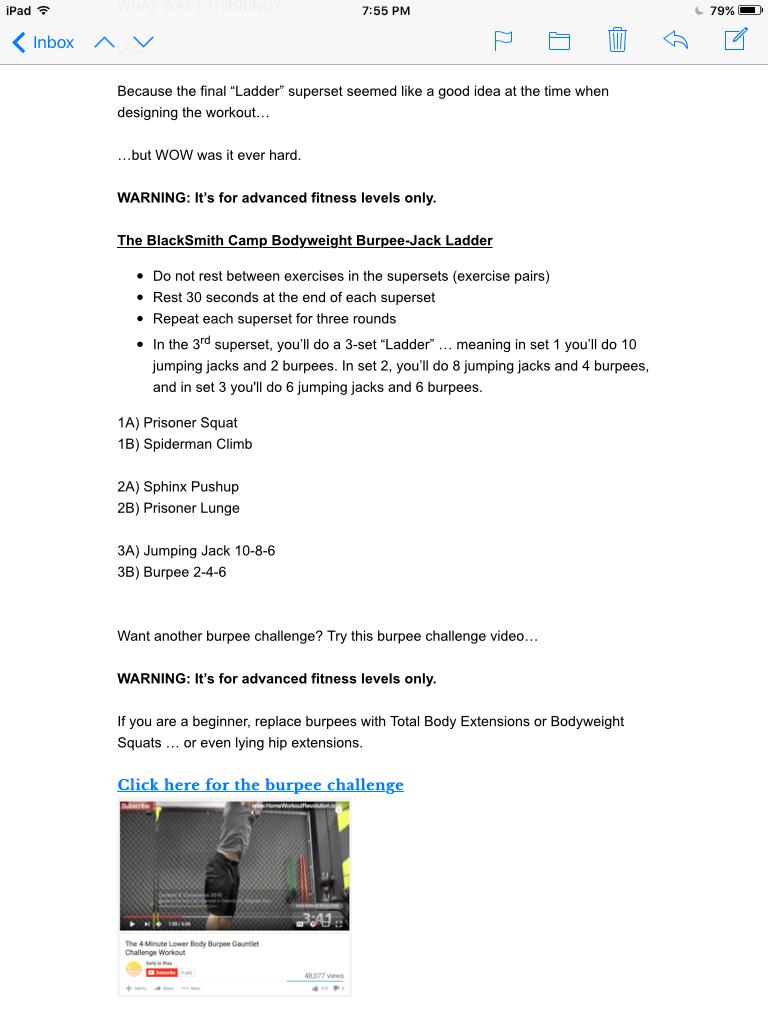 Bodyweight Burpee-Jack Ladder Workout