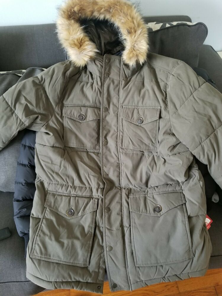 New Tommy Hilfiger NEW Olive Green Khaki Winter Hooded