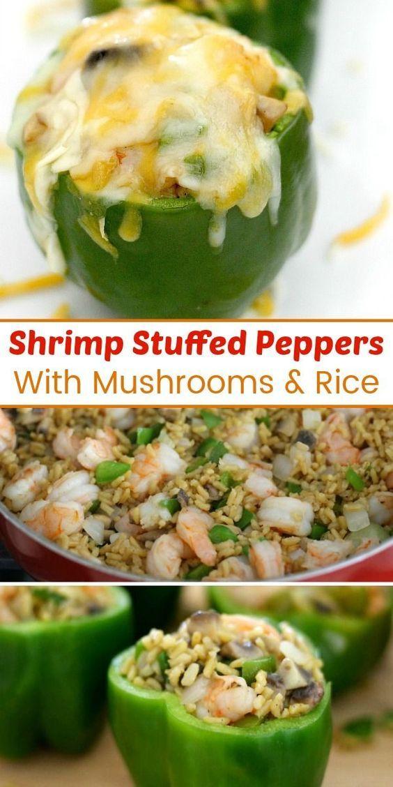 Shrimp Stuffed Peppers #stuffedbellpeppers