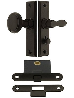 New York Screen Door Latch Set With 1 1 2 Backset Screen Door Screen Door Latch Screen Door Hardware
