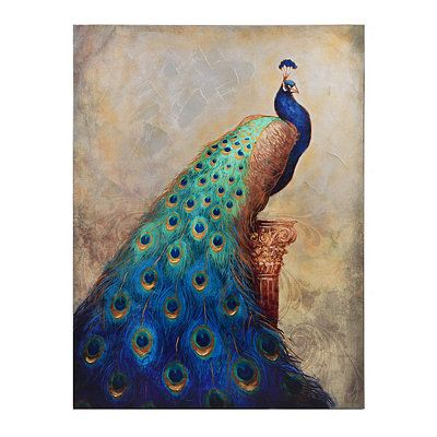 Majestic Peacock Canvas Art Print | Kirklands