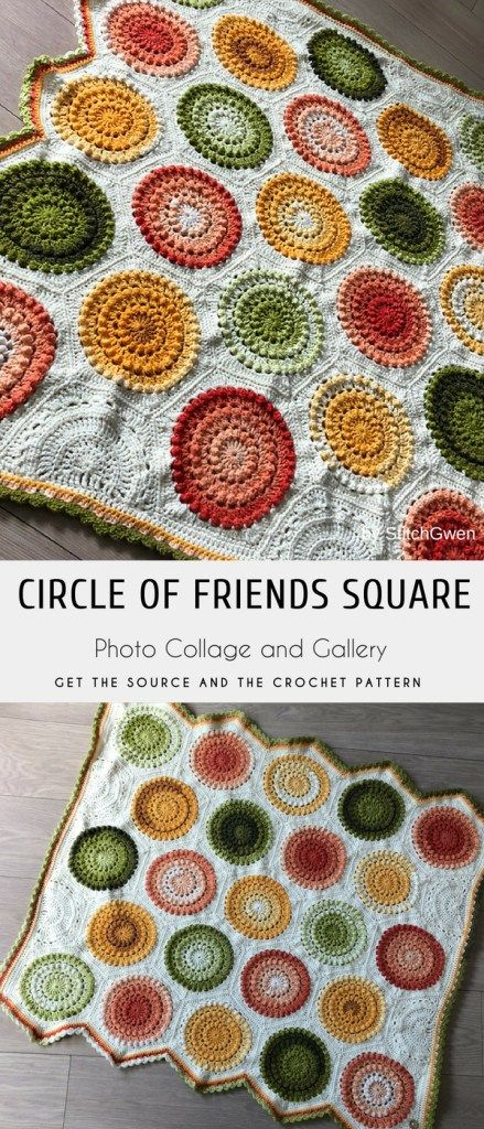 Circle Of Friends Lap Blanket Crochet Pattern Free Blankets