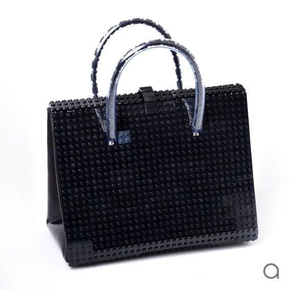 La bolsa de ladrillo negro hecha de LEGO ladrillos envío por agabag