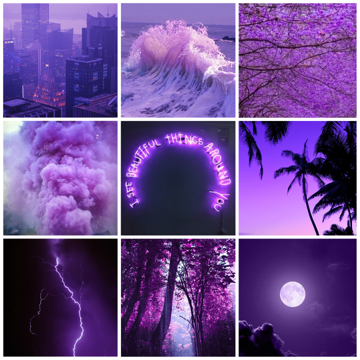 Purple Tumblr Collage Purple Aesthetic Pastel Sky Aesthetic