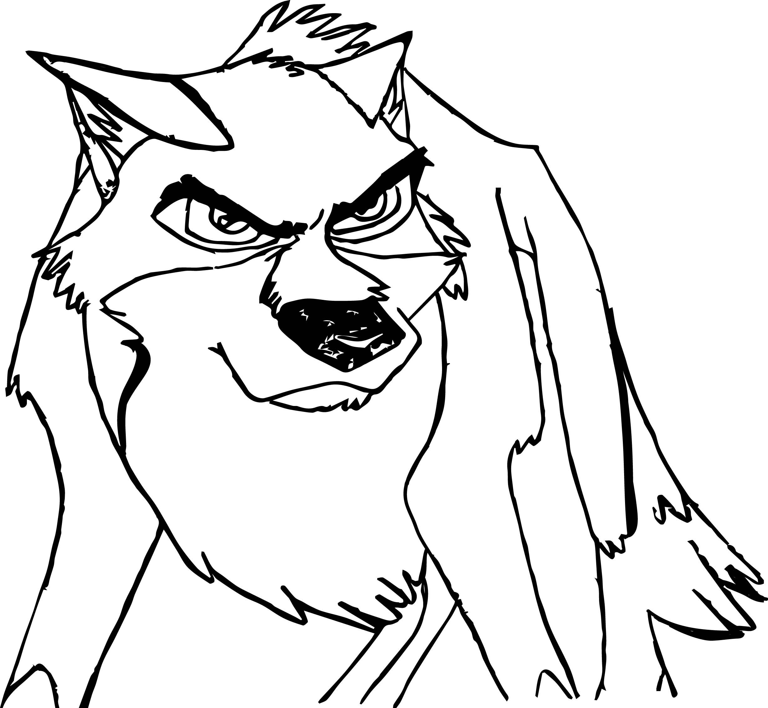 Angry Wolf Coloring Pages Images