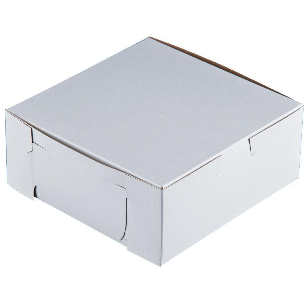 6 x 6 x 2 12 white pie bakery box 250bundle