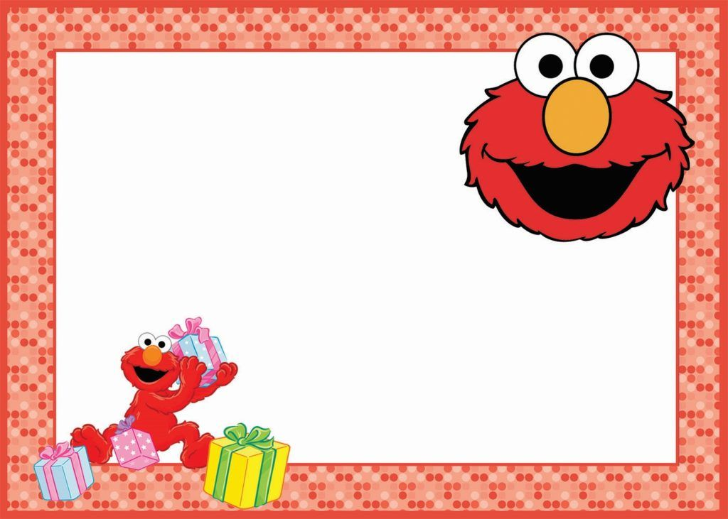 Elmo Birthday Party Invitation Card Elmo Invitations Elmo Birthday Party Elmo Birthday Invitations