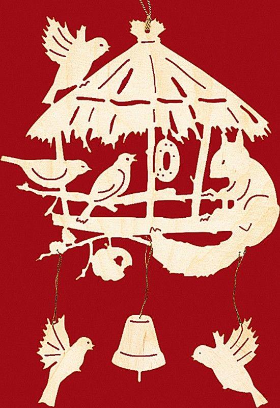 taulin fensterbild weihnachten vogelhaus mit eichhörnchen