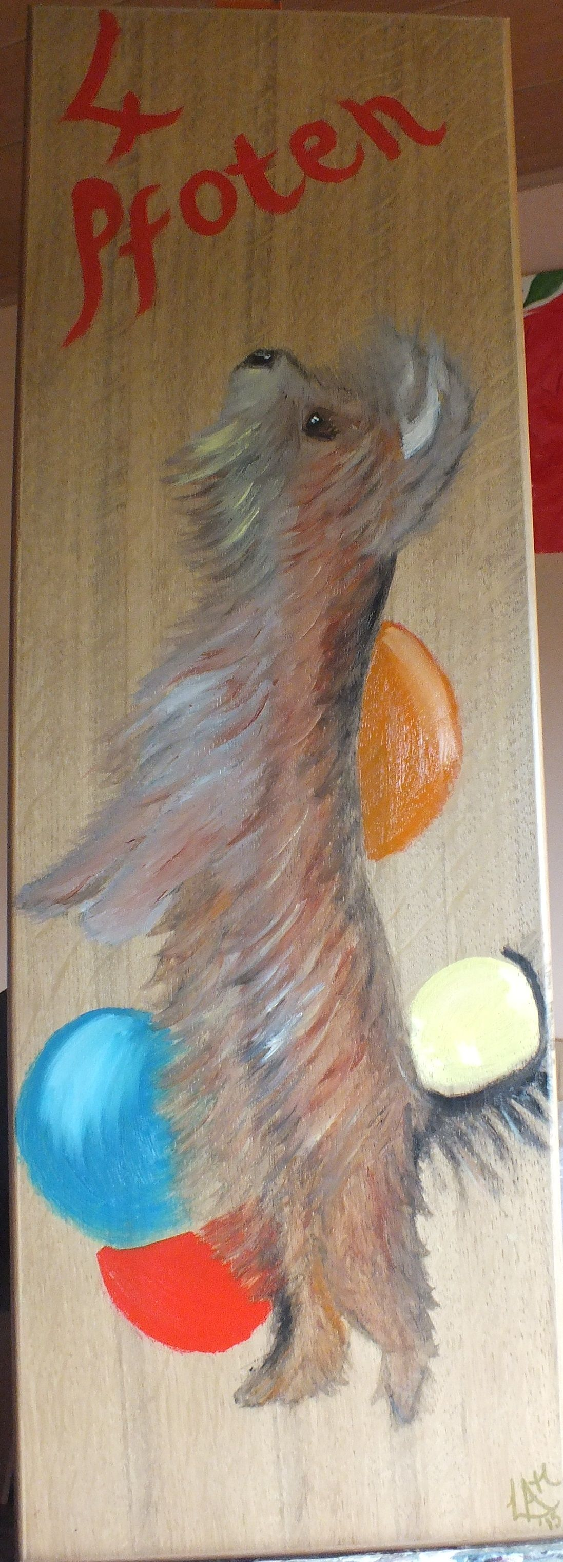 """For """"grooming Salon"""" on Wood Panel"""