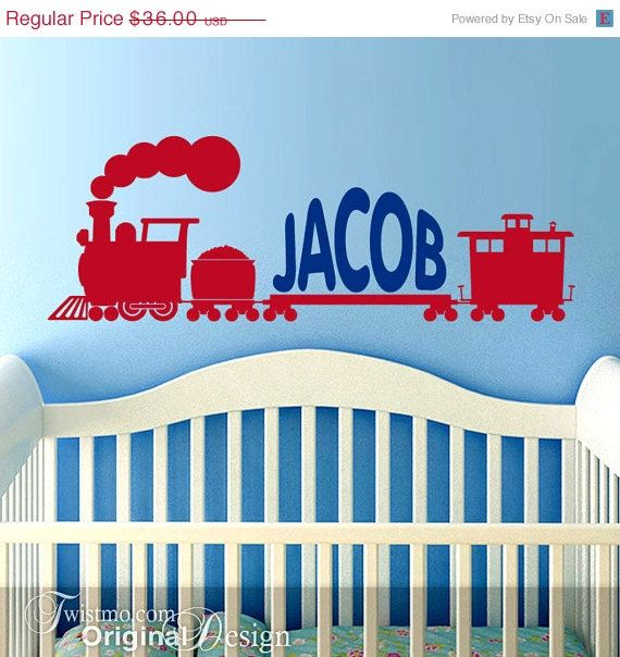 In Wall Decal Train Custom Name Decal For Nursery Name Decal - Custom vinyl wall decals for nursery