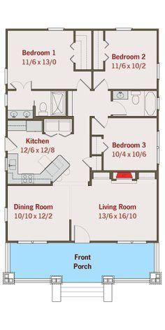 Plan 50105ph Adorable Bungalow House Plan Small House Floor Plans New House Plans Floor Plans