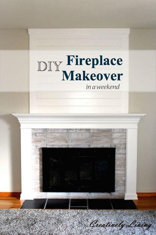 DIY Fireplace Makeoverin One Weekend Under 100