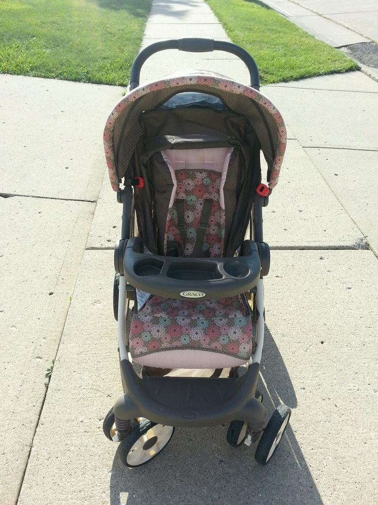 Graco Stroller Infant Car Seat + Base Pink Brown Travel