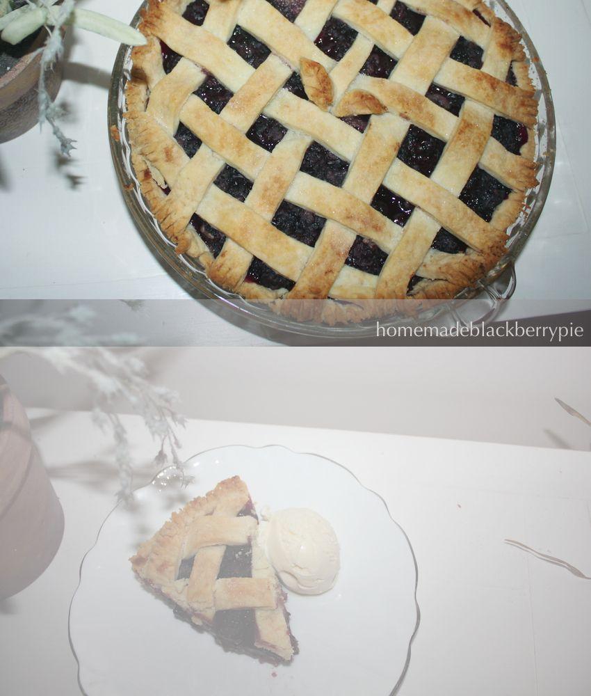 Yum.  Homemade blackberry pie.