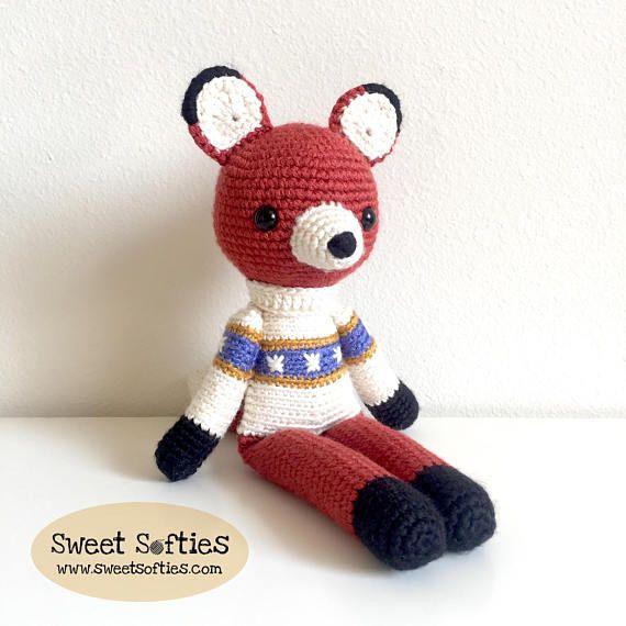 Farley the Slender Fox Amigurumi Crochet Pattern Tutorial ...